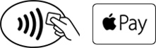 contactless icon-paywave and applepay logo